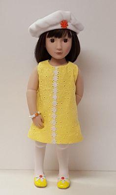 Doll dress for 16 inch dolls like A Girl for All Time Sam by OneGirlsDream on Etsy