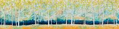 Field Day, encaustic landscape by Catharine Clarke | Effusion Art Gallery + Cast Glass Studio, Invermere BC Modern Art, Contemporary Art, Quirky Decor, Cast Glass, Field Day, Summer Landscape, Encaustic Painting, Canadian Artists, Colorful Paintings