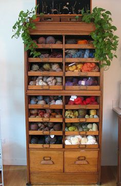 Even a small space should have one of these! Source: http://www.ravelry.com/projects/lesliehsimon/my-beloved-stash
