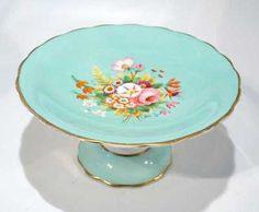 Antique Floral Painted Porcelain Fruit Comport