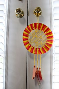 Paper plate dream catcher I made with Olivia | My Crafts ...