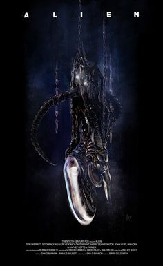Alien by Angel Trancon Arts - Home of the Alternative Movie Poster -AMP-