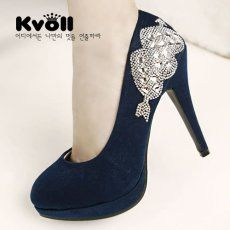 D75497 Kvoll Fashion Lady Rhinestone Arrow Through Heart Pump Blue [D75497] - $23.50 : China,Korean,Japan Fashion clothing wholesale and Dropship online-Be the most beautiful Lady