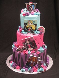 Monster High cake...my daughter wld love this for her bday!!