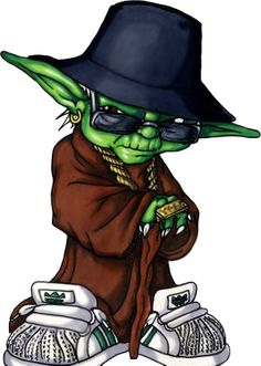 Hip Hop Yoda by Almigh-T - Get inspired and create hip-hop inspired art for TeamBackpack http://www.tlnt.at/TeamBackpackART
