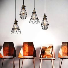 Kaye Metal Wire Cage Industrial Retro Pendant Light #black #bronze #cage