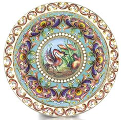 A silver and cloisonné enamel bowl, Moscow, 1899-1908 | lot | Sotheby's
