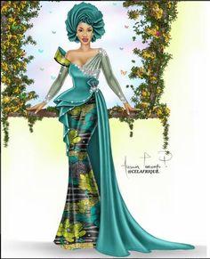 Ankara Xclusive: Tonto Dikeh Stunning Ankara Dress Style That Will Blow Your Mind Ankara Dress Styles, African Lace Dresses, African Fashion Dresses, African Inspired Fashion, African Print Fashion, Africa Fashion, African Wedding Attire, African Attire, African Traditional Dresses
