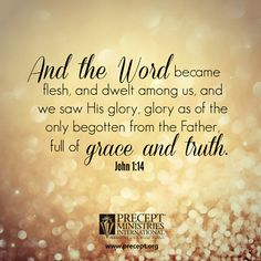 Jesus is our Emmanuel, God's glorious presence with us.
