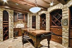 Wine Cellar? Why leave the celler when you can just have a drink right there? Lock me in the cellar!!! please....