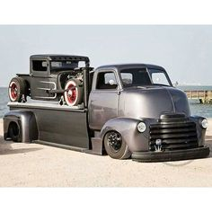 Awesome Chevy COE car hauler. Winter Savings going on now at www.BrothersTrucks.com. #chevrolet ...