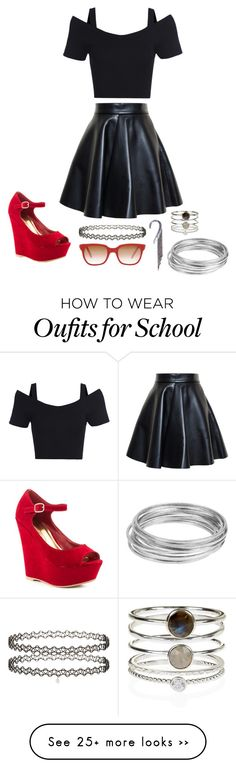 back to school pt1 a fresh new outfit by diamondhope on polyvore featuring msgm promise shoes miss selfridge sheriffcherry dreams of norway