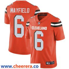 0304f354d Nike Cleveland Browns  6 Baker Mayfield Orange Alternate Men s Stitched NFL  Vapor Untouchable Limited Jersey