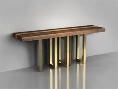 Solid wood console table IL PEZZO 6 Collection by Il Pezzo Mancante | design Il pezzo mancante