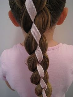 4 Strand Braid with Ribbon Down the Middle