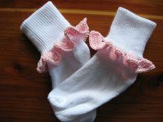 Crochet Sock Trim