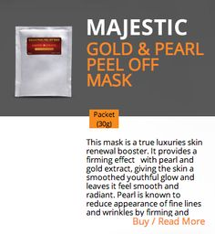 GOLD & PEARL PEEL OFF MASK  http://majestickeratin.com