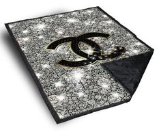 """Chanel Glitter Sparkly custom Blanket 40"""" X 50"""", Blanket - fixcenters, fixcenters"""