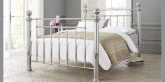 Buy Monaco Double Bed Metal Chrome from the Next UK online shop