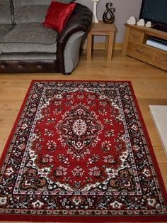 £69 200x280 Shiraz Red Traditional Persian Medallion Style Small Extra Large Carpet Rugs Mat | eBay