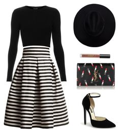 """Untitled #710"" by patrisha175 ❤ liked on Polyvore featuring Rumour London, Topshop, Yves Saint Laurent and Lipstick Queen"