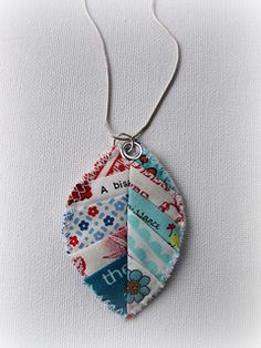 Leila's Scrappy Leaf Pattern & Necklace  -- INSPIRATION for leaves