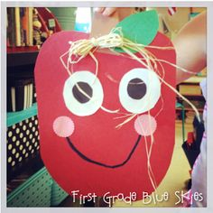 First Grade Blue Skies: Apple Week! Differentiated Kindergarten, Kindergarten Activities, Literacy, Preschool Curriculum, Homeschool, Classroom Art Projects, Projects For Kids, Classroom Ideas, Apple Classroom
