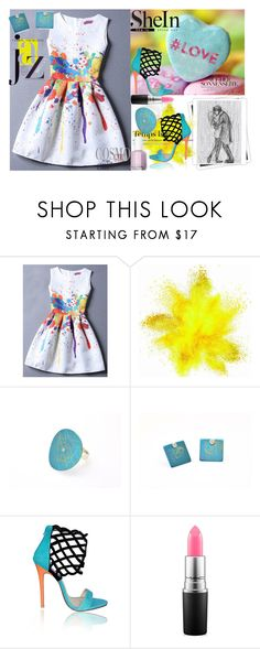 """""""Colorful love"""" by giampourasjewel ❤ liked on Polyvore featuring GALA, Hedi Slimane, MAC Cosmetics, Essie and Chanel"""