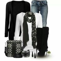 Casual Black & White