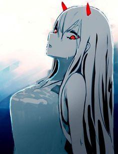 Zero two -darling in the franxx art Anime Meme, Manga Anime, Anime Art, Manga Girl, Photo Manga, Chlorophytum, Waifu Material, Zero Two, Ecchi