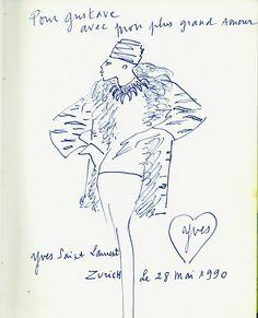 4baa4fa0b0e Résultats de la recherche d images yves saint-laurent sketch