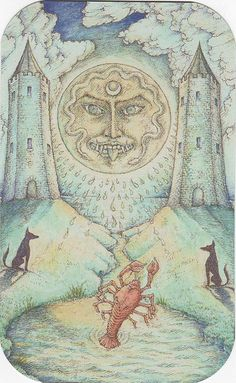 Medieval Enchantment: The Nigel Jackson Tarot- The Moon    #TarotSweetDreams Moon- I've had nightmares the past two nights but it's all good; I know they are just bringing some shadow up to be loved.    https://twitter.com/78Whispers
