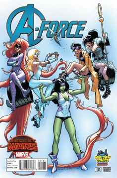 A-Force #1 Cover B Midtown Exclusive Sara Pichelli Variant Cover (Secret Wars Warzones Tie-In)