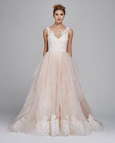 """Azalea"" tulle & Alecon lace wedding dress"