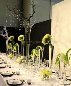 #allestimento in #verde per il tavolo