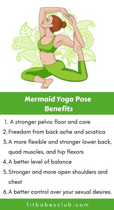 Mermaid is a beautiful pose, but can be daunting for beginners. If you are a beginner at yoga, Click the link to see some beginner's yoga poses. Yoga Poses For Beginners, Workout For Beginners, Mermaid Pose Yoga, Yoga Meditation, Yin Yoga, Full Body Weight Workout, Advanced Yoga, Beginner Yoga, Morning Yoga Routine