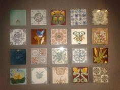 Vintage tiles display
