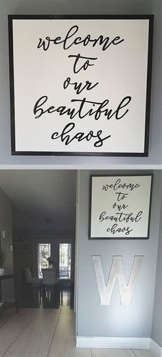 The rustic living room wall decor is undoubtedly very appealing and also attractive. Here is a collection of rustic living room wall decor. home decor signs Inspiring for Rustic Living Room Wall Decor Design Wall Decor Design, Rustic Wall Decor, Rustic Walls, Farmhouse Decor, Farmhouse Style, Rustic Style, Country Wall Decor, Modern Farmhouse, Easy Wall Decor