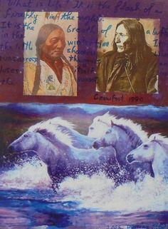 Crowfoot by Jane Ash Poitras kK Native American Paintings, Native American Artists, Native American Fashion, Modern Indian Art, Bear Claws, Photo Montage, Indian Artist, Art Things, Aboriginal Art