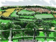 Craig Longmuir, 'Dronfield from Apperknowle', iPad landscape drawings