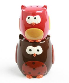 Stacking Owl Salt & Pepper Shakers by tag #zulily #zulilyfinds