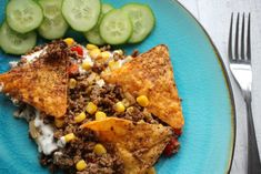 Taco gratin Tacos, Fried Rice, Sour Cream, Fries, Lunch, Ethnic Recipes, Kitchen, Food, Gratin