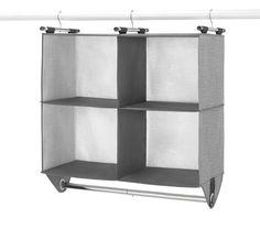 Hanging Closet Organizer, Hanging Storage, Hanging Shelves, Cube Storage, Storage Spaces, Yarn Storage, Closet Rod, Closet Shelves, Closet Storage