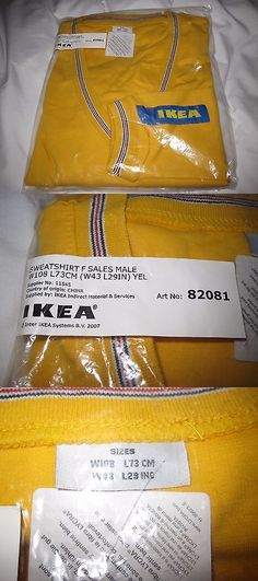 Shirts 175630: Ikea Coworker Employee Uniform Yellow V Neck Sweatshirt - L - New Sealed -> BUY IT NOW ONLY: $49.99 on eBay!