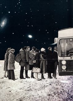 Joe Webb  - Nightbus Facebook | JoeWebbArt.com