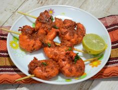 Recipe where you can prepare Tandoori Prawns in a non-stick pan over regular gas stove.