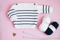 Petite marinière en tricot