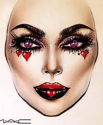 Image result for queen of hearts cosplay makeup