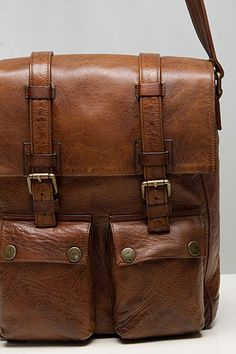 Selectism - Belstaff Leather and Black Canvas Man Bags