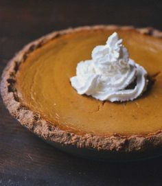 Recipe: Ginger Pumpkin Pie with Graham Cracker Crust — Recipes from The Kitchn